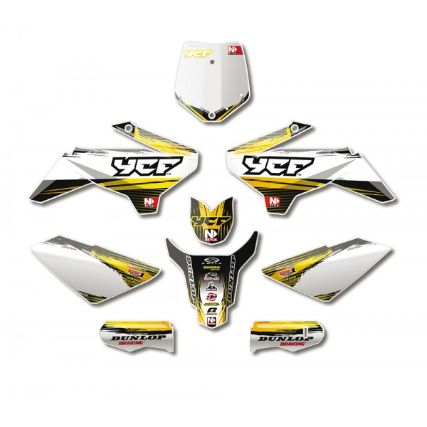 KIT DECO COMPLET N,STYLE ACCELERATOR JAUNE YCF 2013
