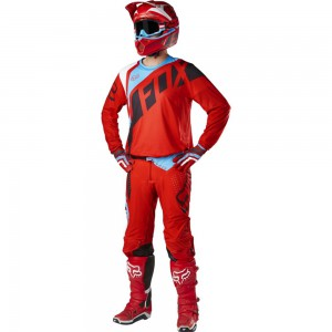 TENUE FOX RACING FLEXAIR SECA ROUGE 2017