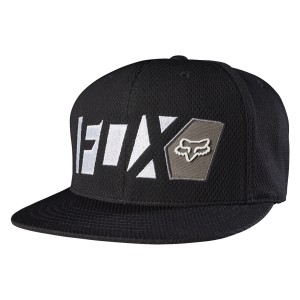 CASQUETTE FOX RACING SNAPBACK LEAD STRETCH NOIR