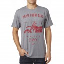 TEE SHIRT FOX RACING OBSESSED GRIS FONÇÉ