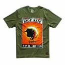 T-SHIRT RIDE SAFE BLEU ROYAL ENFIELD